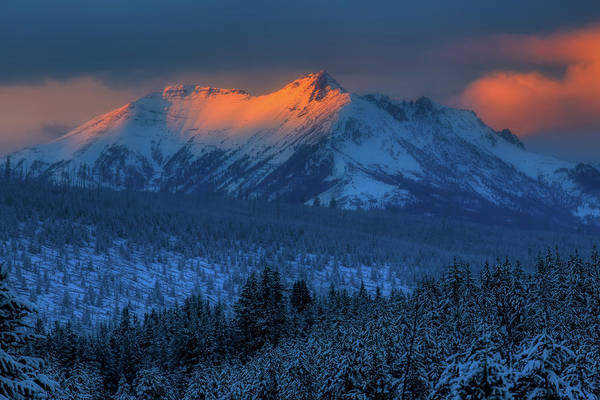 Electric Peak Wall Art - Photograph - Electric Peak At Sunset by N P S Neal Herbert