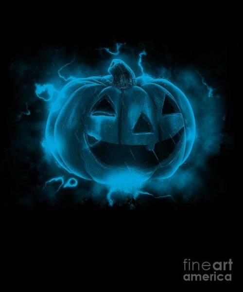 Digital Art - Electric Pumpkin by Flippin Sweet Gear