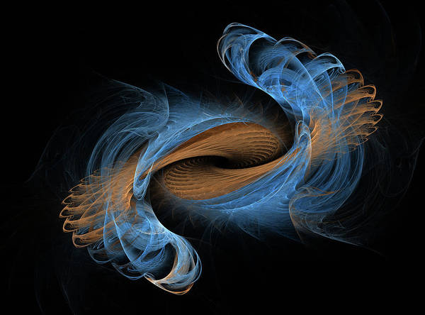 Wall Art - Digital Art - Electric Staircase Fractal by Betsy Knapp