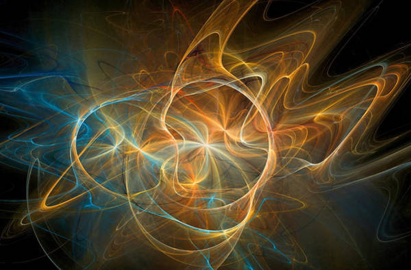 Digital Art - Electric Universe Orange by Don Northup