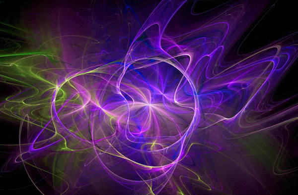 Digital Art - Electric Universe Purple by Don Northup