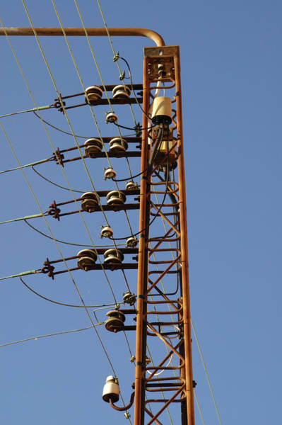 Isolator Wall Art - Photograph - Electric Wires Pole by Daniel Poloha