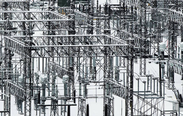 Photograph - Electrical Substation by Juan Contreras