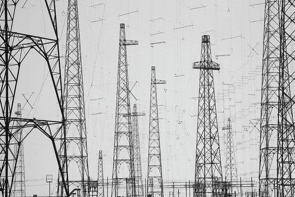 Electricity Generation Photograph - Electricity Towers, Howick by David Henderson