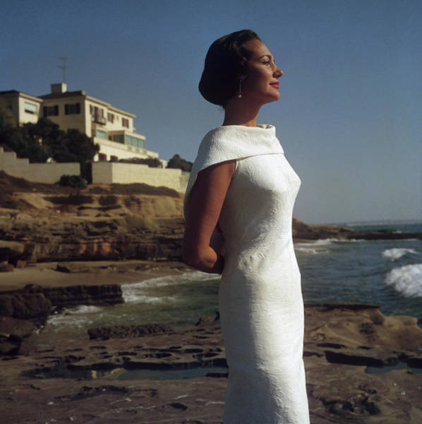 Elegance On The Beach Art Print by Slim Aarons