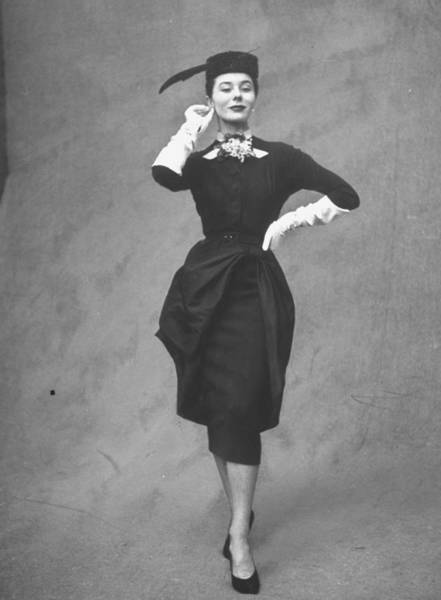Apron Photograph - Elegant Dress Designed By Balmain by Gordon Parks