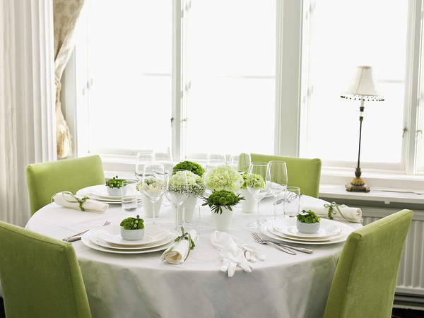 Setting Photograph - Elegant Place Setting by Johner Images
