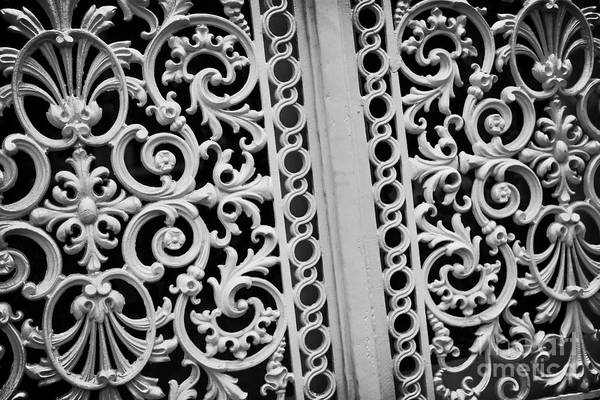 Fleur De Lis Photograph - Elegant Southern Pattern Black And White by Carol Groenen