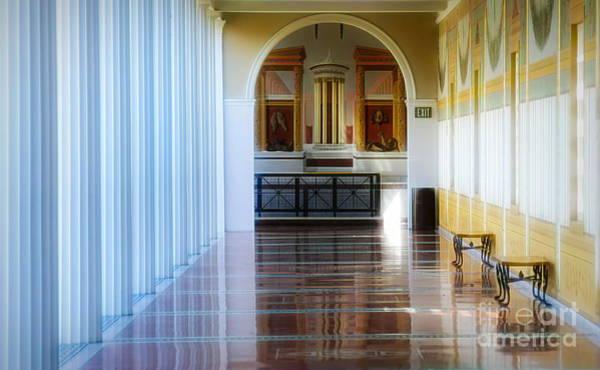 Wall Art - Photograph - Elegant Walls Columns J Paul Getty Villa by Chuck Kuhn