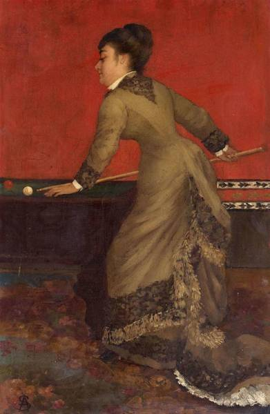 Wall Art - Painting - Elegant With Billiards  by Alfred Emile Stevens
