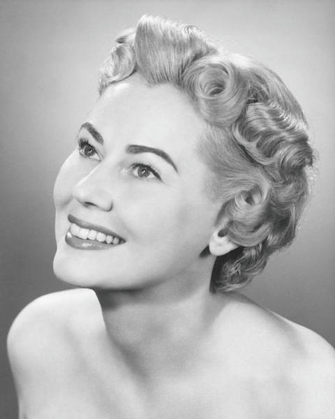 Toothy Smile Photograph - Elegant Woman Posing In Studio, Looking by George Marks