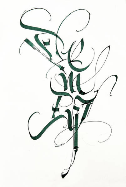 Drawing - Element. Calligraphic Abstract  by Dmitry Mandzyuk
