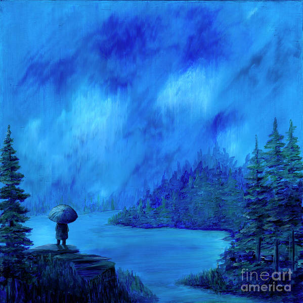 Wall Art - Painting - Elemental Solitude by Rebecca Parker