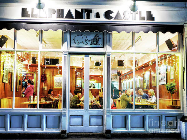 Wall Art - Photograph - Elephant And Castle Dining At Night In Dublin by John Rizzuto