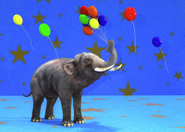 Wall Art - Digital Art - Elephant Celebration by Betsy Knapp