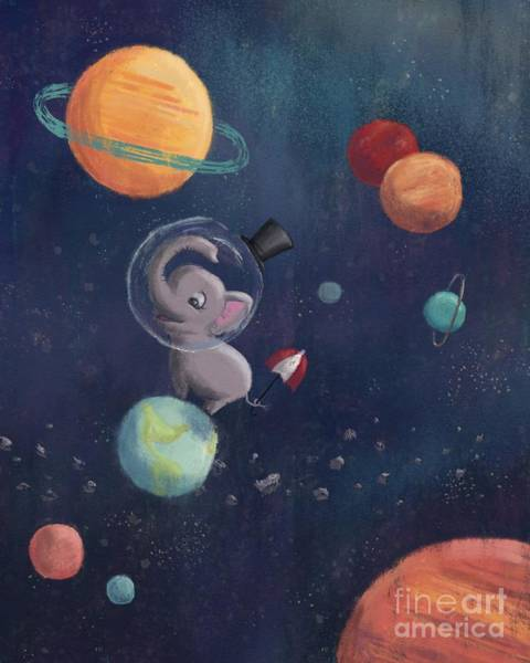 Digital Art - Elephant In Space by Athena Lutton