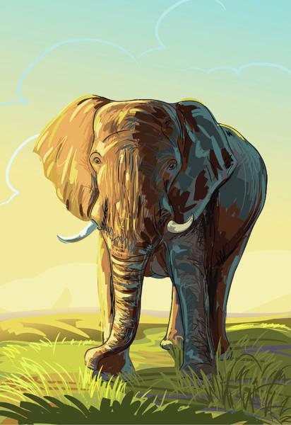 Loneliness Digital Art - Elephant by Leocrafts
