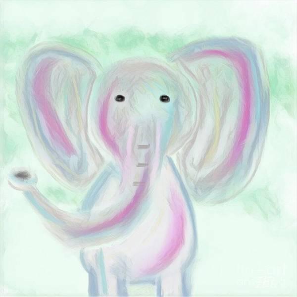 Mixed Media - Elephant Love by Jessica Eli