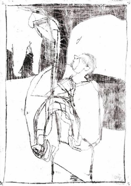 Drawing - Elephant Man by Artist Dot