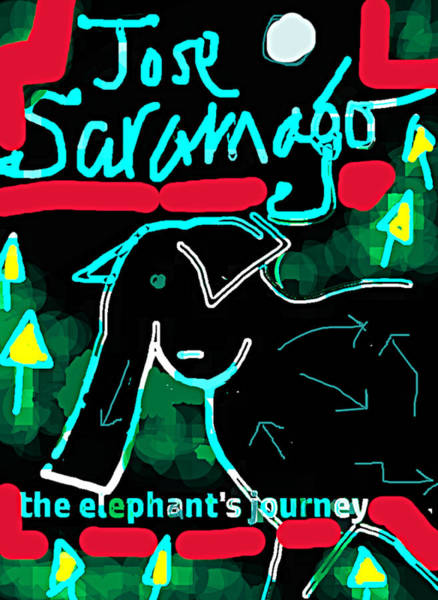 Drawing - Elephants Journey Poster  by Paul Sutcliffe