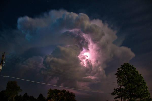 Photograph - Eletrical Thunderhead 002 by NebraskaSC