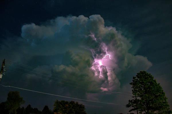Photograph - Eletrical Thunderhead 004 by NebraskaSC