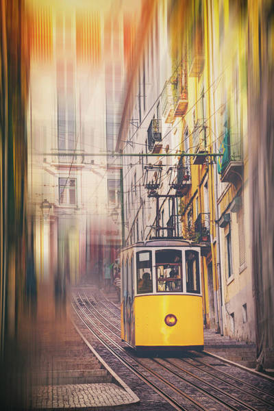 Wall Art - Photograph - Elevador Da Bica Lisbon Portugal  by Carol Japp