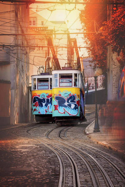 Wall Art - Photograph - Elevador Da Gloria Lisbon Portugal  by Carol Japp
