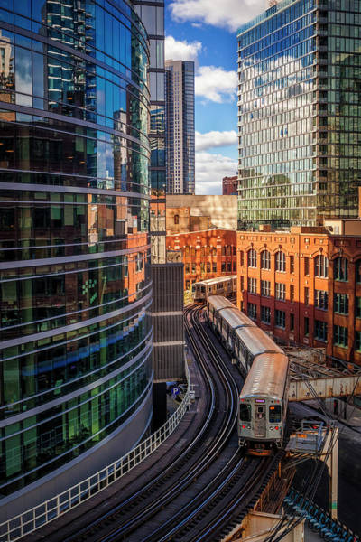 Wall Art - Photograph - Elevated Chicago by Andrew Soundarajan