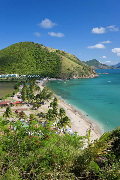 St Kitts Photograph - Elevated View Over Frigate Bay Beach On by Gavin Hellier / Robertharding