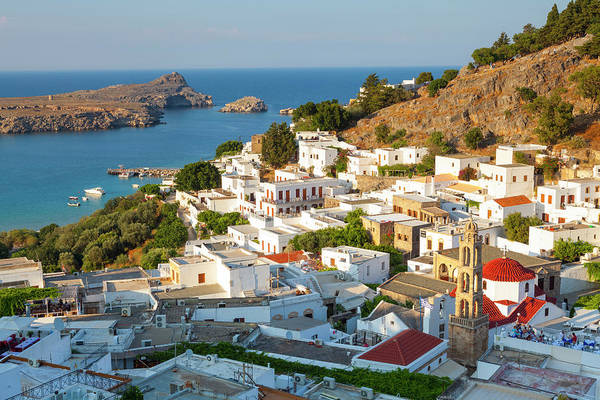 Dodecanese Photograph - Elevated View Over Idyllic Lindos by Douglas Pearson
