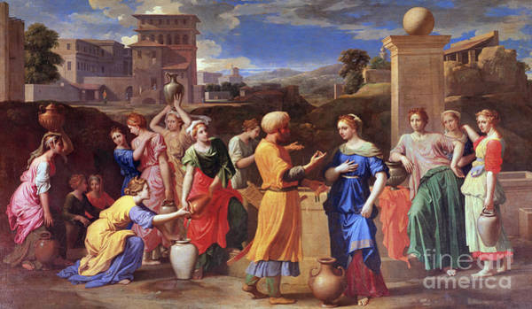 Wall Art - Painting - Eliezer And Rebecca, 1648 by Nicolas Poussin