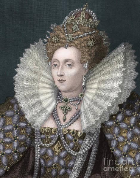 Wall Art - Drawing - Elizabeth I by English School