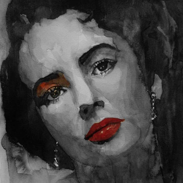 Wall Art - Painting - Elizabeth Taylor  by Paul Lovering