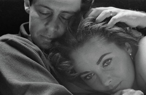 Wall Art - Photograph - Elizabeth Taylor With Head On Her Husband Eddie Fisher      by Toni Frissell