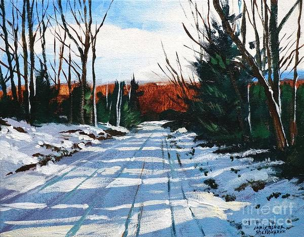 Painting - Elk County Country Road In Painting by Christopher Shellhammer