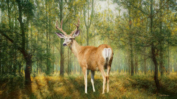 Painting - Elk In The Forest - Painting by Ericamaxine Price