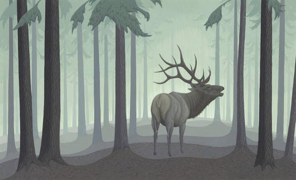 Wall Art - Painting - Elk  by Nathan Marcy