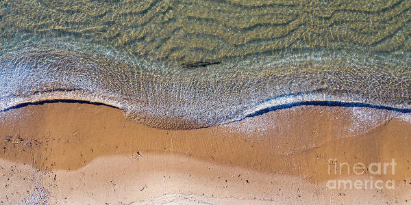 Download Photograph - Elk Rapids Waves Aerial by Twenty Two North Photography