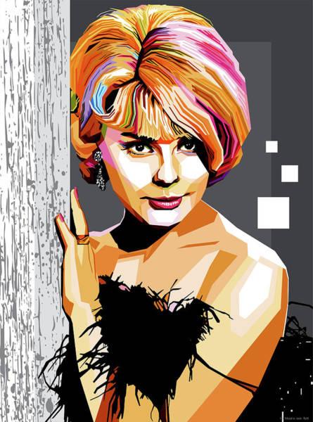 Pop Star Digital Art - Elke Sommer by Stars-on- Art