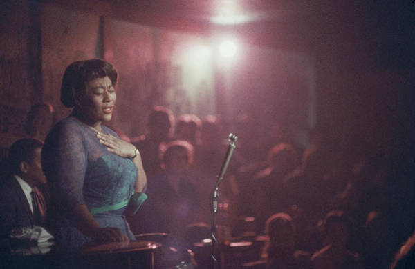 Red Dress Photograph - Ella Fitzgerald Performs by Yale Joel