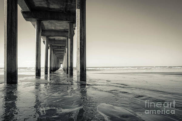 Wall Art - Photograph - Ellen Browning Scripps Memorial Pier Black And White by Wendy Fielding