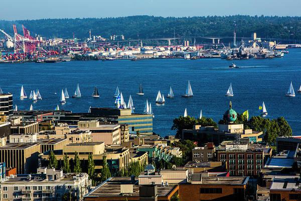 Tug Boat Photograph - Elliott Bay, Seattle, Washington State by Jolly Sienda