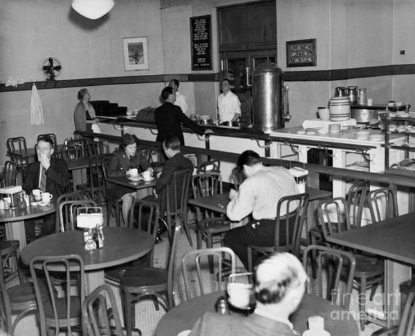 Wall Art - Photograph - Ellis Island Cafeteria by Granger