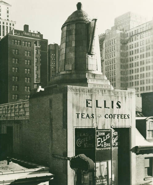 Mixed Media - Ellis Tea And Coffee Store, 1945 by Jacob Stelman
