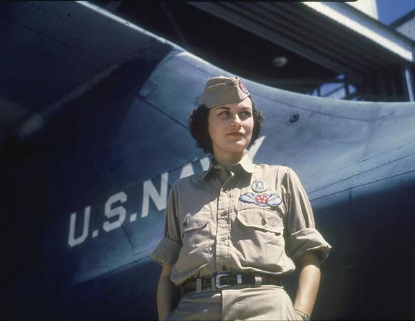 Usa Navy Photograph - Eloise Ellis At Naval Air Station by Howard R. Hollem
