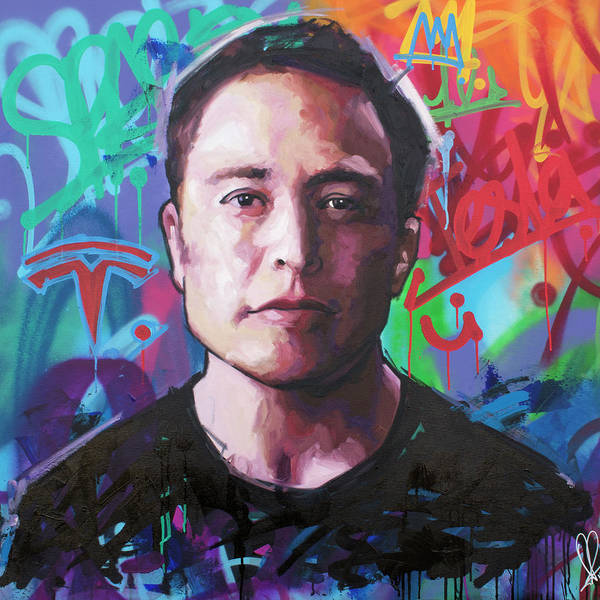 Wall Art - Painting - Elon Musk by Richard Day