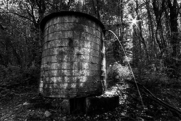 Photograph - Elowah Trail Wooden Water Tank by Mark Kiver