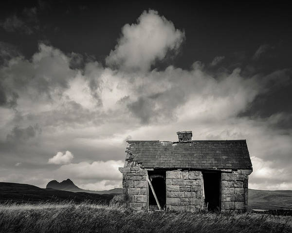 Wall Art - Photograph - Elphin Bothy And Suilven by Dave Bowman