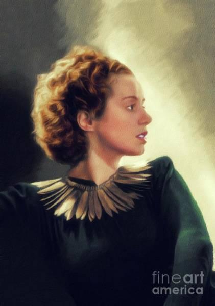 Wall Art - Painting - Elsa Lanchester, Vintage Actress by John Springfield